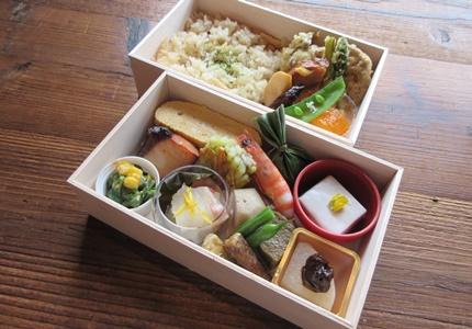 オーガニック木箱二段弁当